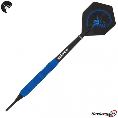 Unicorn Core Plus Rubberised Blue Brass Softdarts 04251 Dart