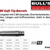 Bull's BE-15 Soft Dart Barrel 65955 65956 65957 2