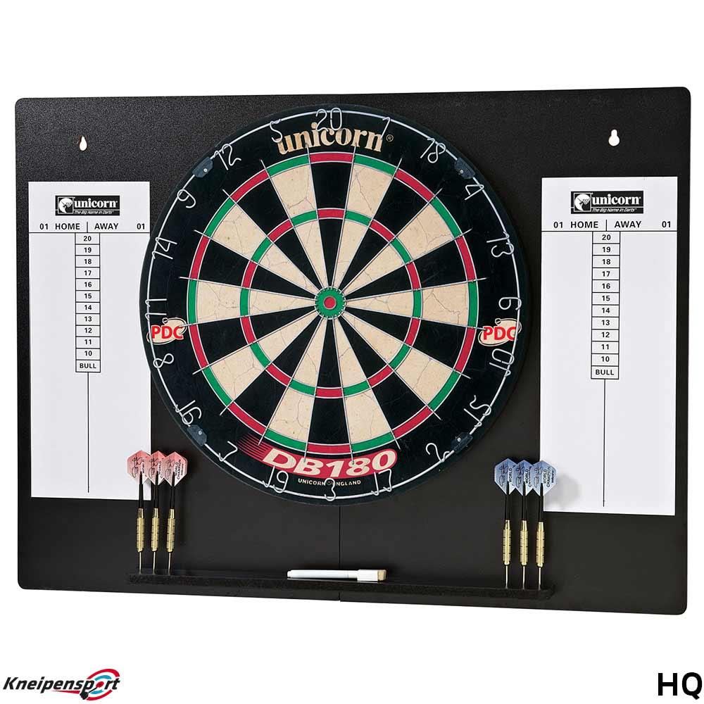 unicorn db180 home dart centre steeldarts board mit wandschutz. Black Bedroom Furniture Sets. Home Design Ideas