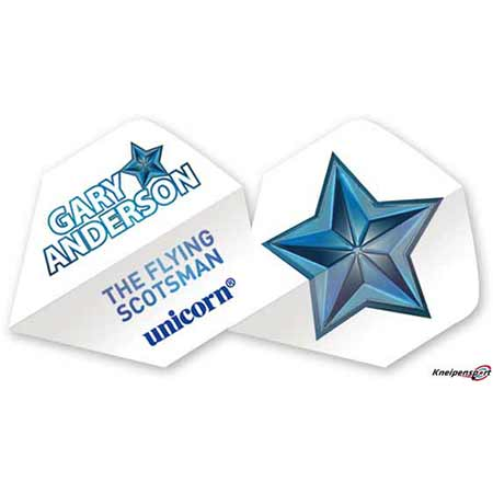 Unicorn Authentic 100 Gary Anderson Flights - Big Wing - weiß 68682