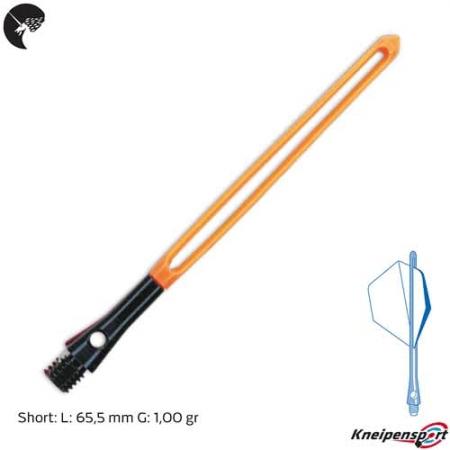 Unicorn SlikStik Aluminium Plus Schaft - Short - schwarz orange 74435