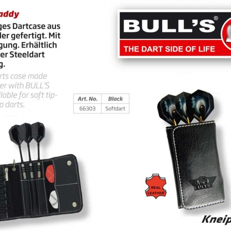 BULL'S Caddy Leder Darttasche Soft Dart Standard schwarz 66303 Featured 1