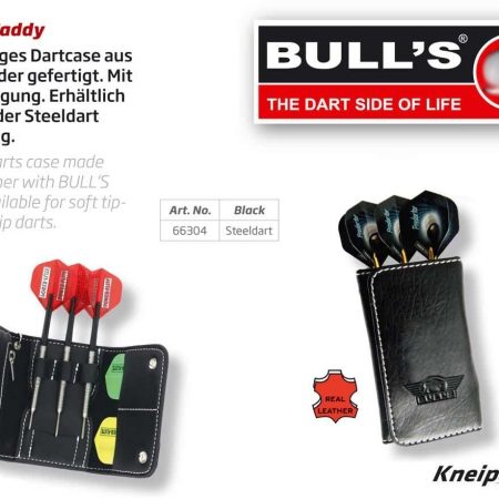 BULL'S Caddy Leder Darttasche Steel Dart Standard schwarz 66304 Featured 1