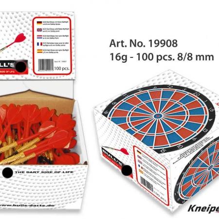BULL'S Eco Soft Dart Box 100er 8/8mm 16g stahl 19908 Featured 1