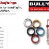 BULL'S Shaft Aluminiumring Standard rot 56813 Gruppe 1