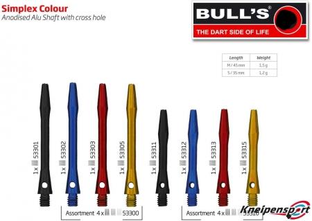 BULL'S Simplex Aluminium Shaft Medium schwarz 53301 Featured 1