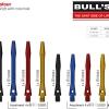 BULL'S Simplex Aluminium Shaft Short rot 53313 Gruppe 1