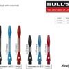 BULL'S Split Aluminium Shaft Medium rot 54903 Gruppe 1