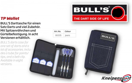 "BULL'S TP Dartcase ""Jeans"" Standard blau 66335 Featured 1"