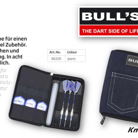 "BULL'S TP Dartcase ""Jeans"" Standard blau 66335 Featured 1"