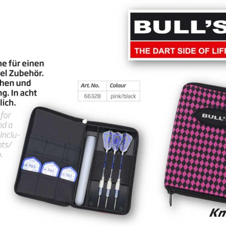 "BULL'S TP Dartcase ""Raute"" Standard pink 66328 Featured 1"