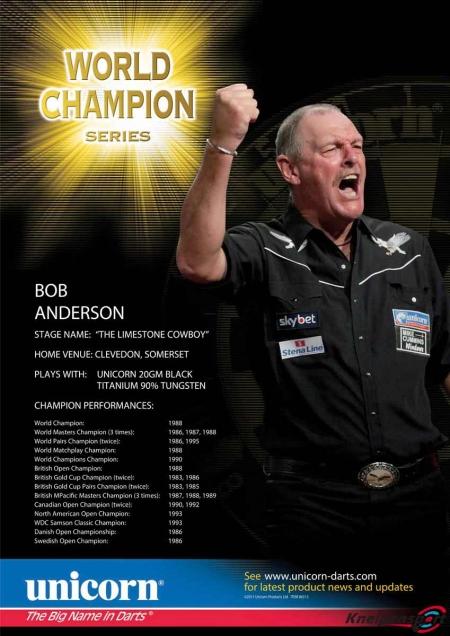 "Poster ""Bob Anderson"" World Champion Standard design 86671 Featured 1"