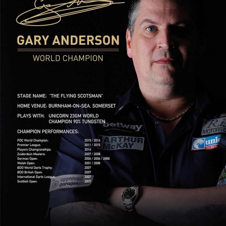 "Poster ""Gary Anderson"" Standard design 86682 Featured 1"