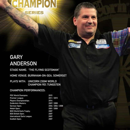 "Poster ""Gary Anderson"" World Champion Standard design 86674 Featured 1"