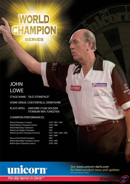 "Poster ""John Lowe"" World Champion Standard design 86519 Featured 1"