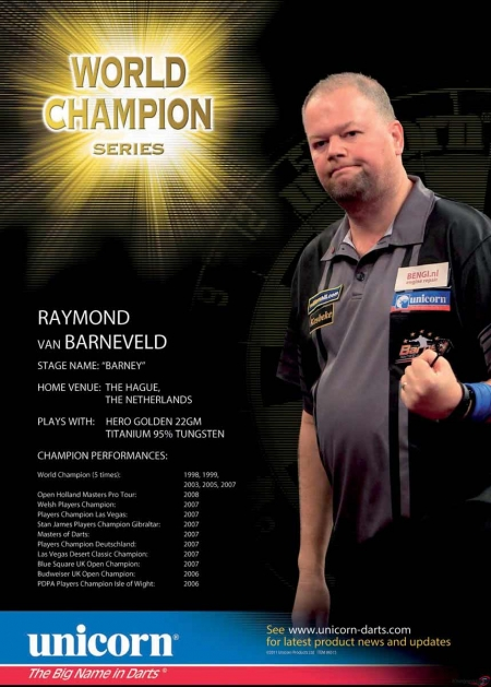 "Poster ""Raymon van Barneveld"" World Champion Standard design 86516 Featured 1"