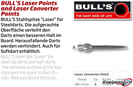 Stahlspitze Laser Point Typ A 2BA Long silber 57609 Featured 1