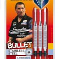 Unicorn Bullet Gary Anderson Soft Dart 16g silber 23213 Verpackung 1
