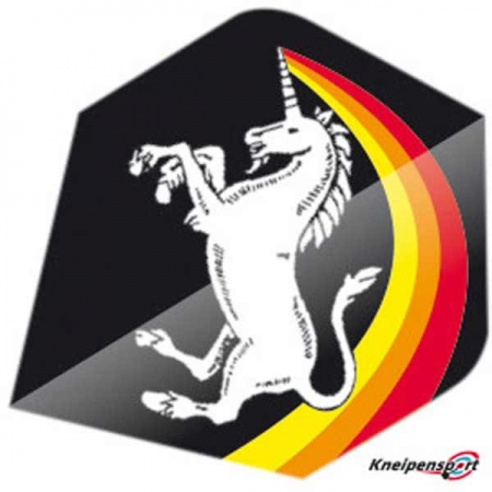 "Unicorn Core 75 Flights ""Unicorn Rainbow black"" Big Wing design 68628 Featured 1"