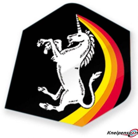 "Unicorn Core 75 Flights ""Unicorn Rainbow black"" Plus design 68627 Featured 1"