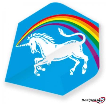 "Unicorn Core 75 Flights ""Unicorn Rainbow blue"" Big Wing design 68634 Featured 1"