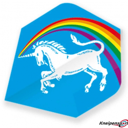 "Unicorn Core 75 Flights ""Unicorn Rainbow blue"" Xtra design 68635 Featured 1"