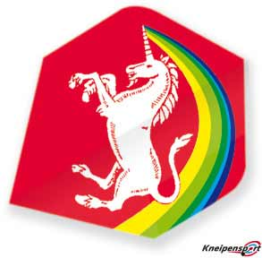 "Unicorn Core 75 Flights ""Unicorn Rainbow red"" Big Wing design 68637 Featured 1"
