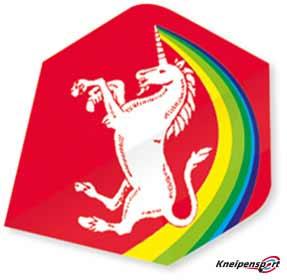 "Unicorn Core 75 Flights ""Unicorn Rainbow red"" Plus design 68636 Featured 1"
