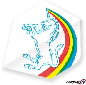 "Unicorn Core 75 Flights ""Unicorn Rainbow white"" Big Wing design 68631 Featured 1"
