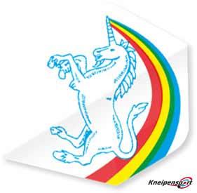 "Unicorn Core 75 Flights ""Unicorn Rainbow white"" Plus design 68630 Featured 1"