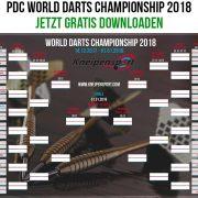 Darts WM 2018 Vorschau Spielplan